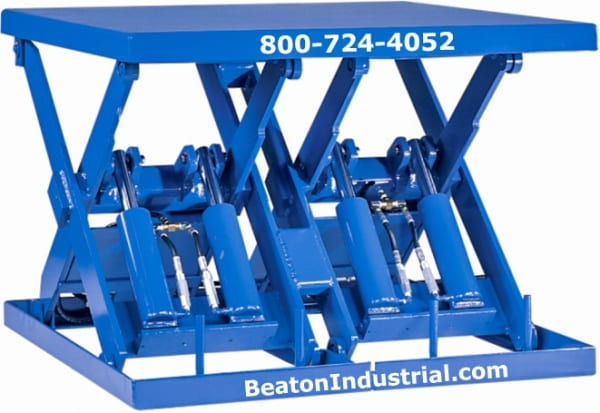 Double Wide Hydraulic Lift Table