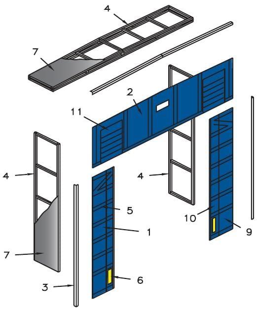Loading Dock Shelter - Blue Giant