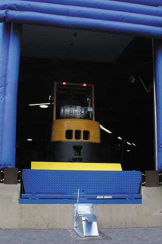 Loading Dock Safety with Blue Giant XDS Vehicle Restraint System and SVR303