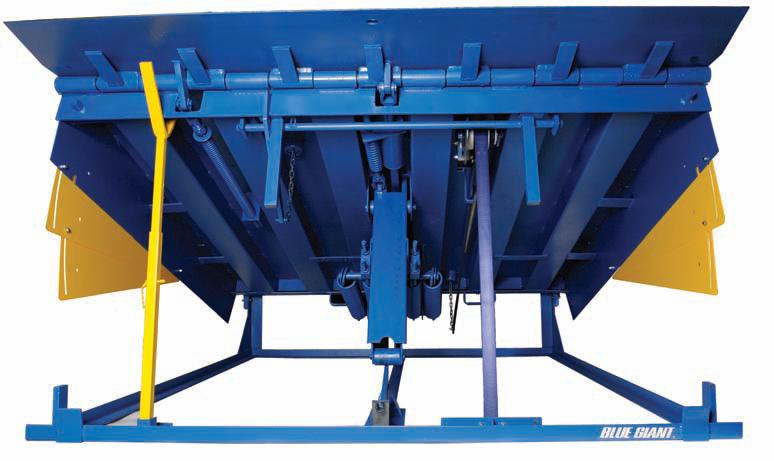 Mechanical Loading Dock Leveler Front View - Blue giant U-series