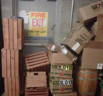 blocked emergency exit 2 & Blocked Emergency Egress Can Cost You $77150 in OSHA Fines ... pezcame.com