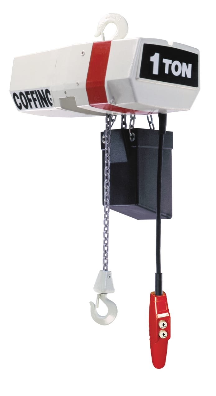 high performance hoists engineered for heavy duty industrial service   designed for safety, the ec incorporates mechanical load brake, motor  brake,