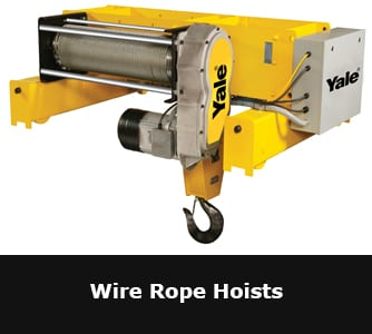 yale electric chain hoist manual