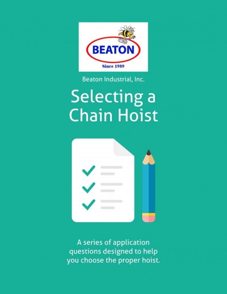 Chain Hoist Checklist   9 Questions You Must Answer